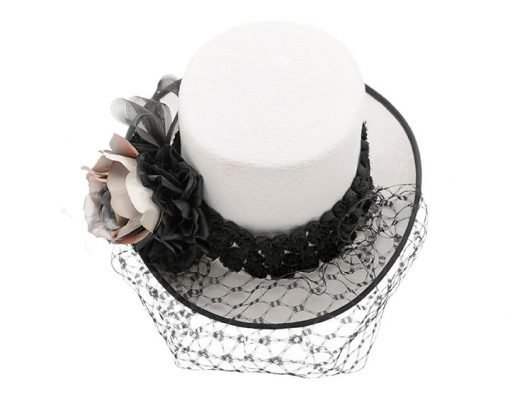 Smithbilt Holly Allen Emaline Special Occasion Polo Hat Horse Racing Millinery